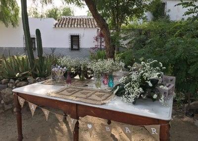 Mesa dulce vintage para el día de tu boda