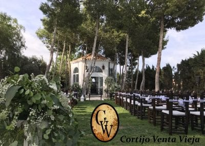 Altar de boda en Cortijo Venta Vieja