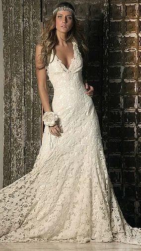 Vestido de novia vintage 2019